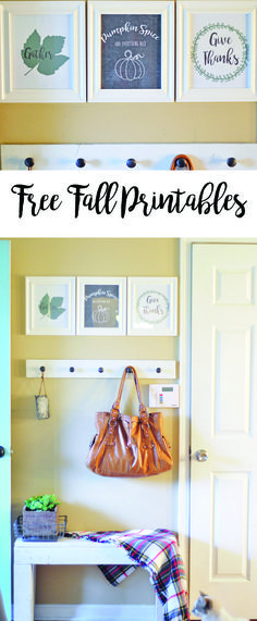 One of our favorite and most frugal ways to decorate for any holiday is with free printables! Here are some of our own that we wanted to share with you! #printable #freeprintable #fall #fallprint #falldecor