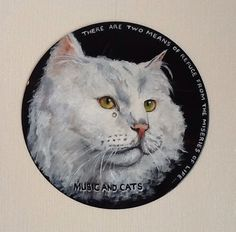 Cats And Music Vinyl Record Wall Art