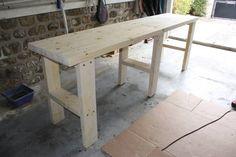 Comptoir cuisine tabli fabrication on pinterest - Fabriquer un plan de travail ...