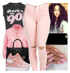 """✴Stuck in the 90's✴"" by boss-baby ❤ liked on Polyvore featuring Wildfox, WearAll, MICHAEL Michael Kors, Sterling Essentials, Sonix and NIKE"
