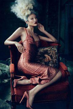 Chiharu Okunugi By Michael Schwartz For Dansk Magazine Spring 2014 In 'Draw Me Like One Of Your FrenchGirls' - 3 Sensual Fashion Editorials...