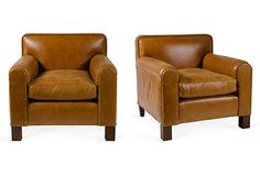 Caramel Leather Chairs, Pair on OneKingsLane.com  So gorgeous - love the colors!