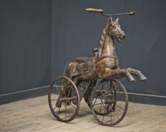 FRENCH CARVED WOOD TRICYCLE, , Drew Pritchard