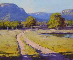 ON SALE Australian art gum trees Landscape Painting oil Road Painting, Summer Painting, Mural Painting, Farm Paintings, Unique Paintings, Paintings For Sale, Impressionist Landscape, Impressionism, Desert Art