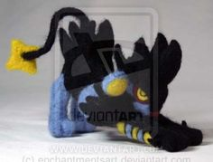 Needle Felted Luxray by The-GoblinQueen.deviantart.com on @DeviantArt