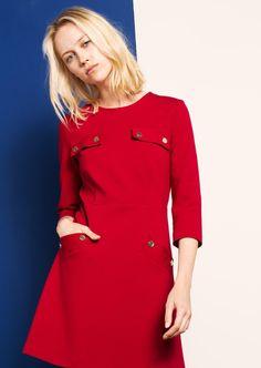 Red jersey mini dress  femme - tara jarmon 1