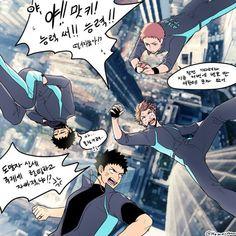 Hanamaki & Matsukawa are so chill meanwhile Iwaizumi & Oikawa are in panic, lol.