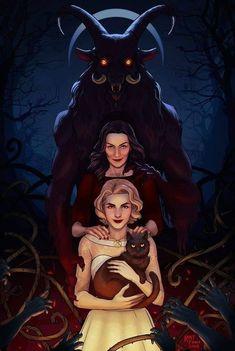 O mundo Sombrio de Sabrina, Netflix, Art autor? Baphomet, Wallpaper Mundo, Audrey Horn, Fan Art, Teen Witch, Satanic Art, Arte Obscura, Sabrina Spellman, Witch Art