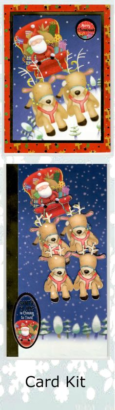 CRAFT CREATION CHRISTMAS DOGS TOPPERS FOR CARDS /& CRAFT