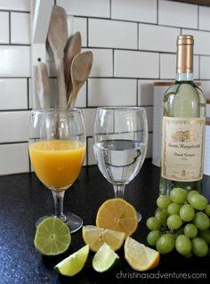 Sunday Brunch Drink Recipe: Mimosa Sangria - Christinas Adventures