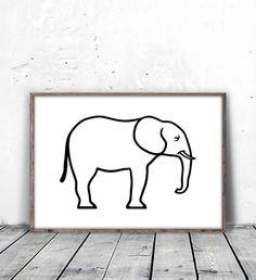 Elephant Wall Art, Nursery Decor, Elephant Decor, Kids Wall Art, Kids Room Decor, Elephant Nursery, baby shower gift, Printable Wall Art, digital download