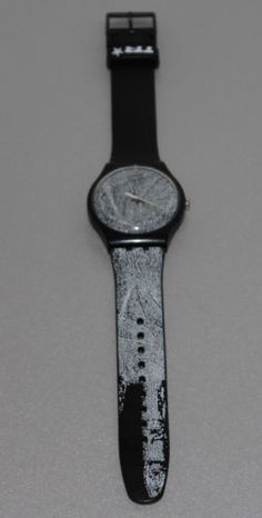 SWATCH TTR Special Recognize Me Black Rubber Strap