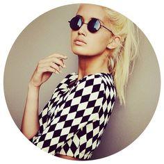 Inspiration. #sunettes #sunglasses #round