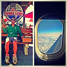 Made it home n realized the #feather from Forest gump followed me onto the plane in the window. photo by the_gnar_life