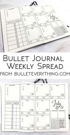 My most popular bullet journal weekly spread on the site - tons of bullet journal fans have tried it for themselves! Print this weekly spread and try it for yourself in your own bullet journal or planner. Bullet Journal Inspo, Bullet Journal Monthly Log, Bullet Journal Spread, Bullet Journal Cleaning, Bullet Journal Layout Templates, Bullet Journal Printables, Journal Inspiration, Journal Ideas, Filofax