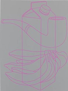 Drawing Techniques artnet Galleries: Untitled (light grey-pink) by Michael Craig-Martin from Michael Fuchs Galerie 3d Drawing Techniques, Michael Craig, Outline Art, Observational Drawing, Color Scale, Tree Carving, Sculptures For Sale, 3d Drawings, Mark Making