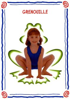 grenouille modèle Preschool Yoga, Kindergarten Activities, Preschool Activities, Zen Yoga, Yoga Meditation, Yoga For Kids, Exercise For Kids, Yoga Games, Physical Education Lessons