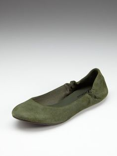 Mona flat by Delman. Love this color in a flat!