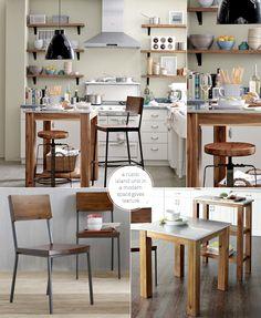 West Elm: Modern Meets Rustic-Industrial Kitchen – Bright.Bazaar