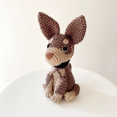 Made to Order KELPIE crochet amigurumi Free Crochet, Crochet Crafts, Tan Body, Mini Dogs, Dog Items, Sewing Projects For Kids, Crochet Patterns, Crochet Ideas, Whippet