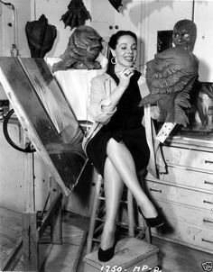 Millicent Patrick - The Creature's mother. Wonderful behind the scenes photos.