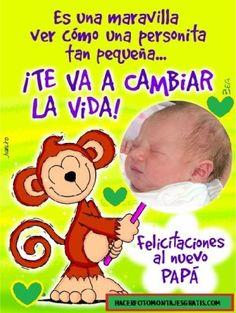 Fotomontaje dia del padre gratis Birthday Wishes, Birthday Cards, Happy Birthday, Baby Shawer, Special Day, Winnie The Pooh, Verses, Congratulations, Birthdays