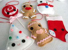 Tons of felt ornament pics!!!  50 DIY Felt Christmas Tree Ornaments | Shelterness