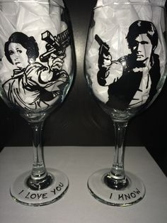 Star Wars Wine Glass by TasteTheVictory on Etsy