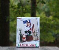 A personal favorite from my Etsy shop https://www.etsy.com/listing/252193704/vintage-caron-santa-claus-latch-hook