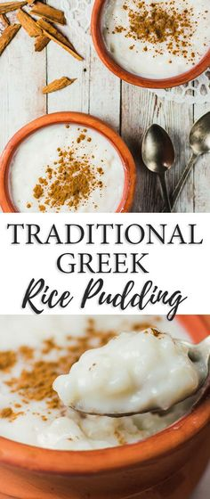 Rizogalo (Greek Rice Pudding) is very creamy and eaten cold. So energizing and refreshing its he ideal dessert or sweet snack for hot weather!  #rice #pudding #creamy #easy