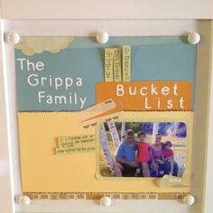 June Monthly Project - the family summer bucket list! Featuring white Sleek Everyday Display Board!