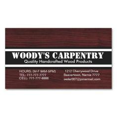 Carpentry Business Card