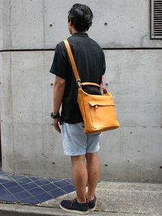 soft leather sholder bag made in Japan