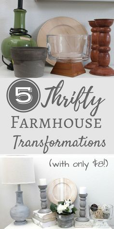 Simply Beautiful By Angela: 5 Thrifty Farmhouse Transformations With Only $8. Goodwill Makeovers