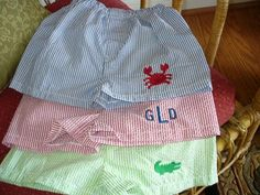 Big Boy Sizes  Seersucker / Gingham Baby Boxer Shorts by PattyBzz, $11.50