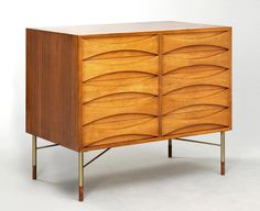 Chest of drawers designed by Arne Vodder and manufactured by Sibast Møbler in 1955.