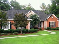 Like The Varied Grey And Dark On Roof Works Well With Orange Brick House Exteriorshouse Paint