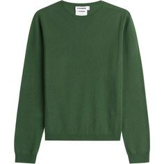 Jil Sander Cashmere Pullover (13.410 CZK) ❤ liked on Polyvore featuring tops, sweaters, green, long sleeve tops, long sleeve pullover sweater, sweater pullover, loose tops and wool cashmere sweater