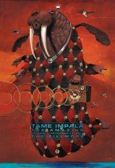 Tame Impala Fillmore Poster Thursday, November 15th, 2012
