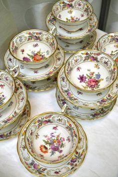 Lot de 4 Aynsley Archive Rose Assiettes Lot de 4 Multi