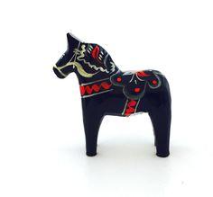 """Blue Dala Horse - 3"""""""