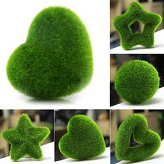 Hot Sale Fashion Artificial Fresh Moss Balls Green Plant Home Party Decoration