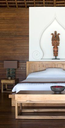 Bedroom at Ketapang Estate, Bali Balinese Interior, Asian Interior, Interior And Exterior, Oriental Bedroom, Oriental Decor, Indonesian Decor, Interior Decorating, Interior Design, Interior Ideas
