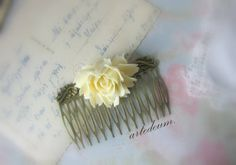 Bridal Hair comb Vintage Antique style Hair by WhiteTeapot on Etsy, $26.00