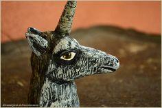 Unicorn sculpture artwork by Vocisconnesse on etsy