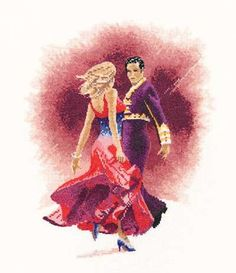 Turn up the heat Latin style with this Paso Doble cross stitch kit. John Clayton, Heritage Crafts, Craft Materials, Cross Stitch Kits, Needlework, Disney Characters, Fictional Characters, Wings, Crossstitch