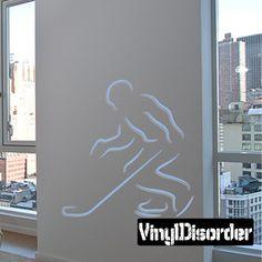 Hockey Player Wall Decal - Vinyl Sticker - Car Sticker - Die Cut Sticker - CDSCOLOR007