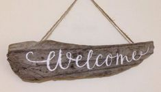 New Home Housewarming Gift Hand Painted Driftwood Sign Welcome | eBay