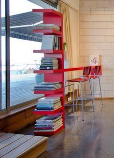 Ikea Lack & hack to bar and bookshelf | BLV Design for Ella Lustig's Studio