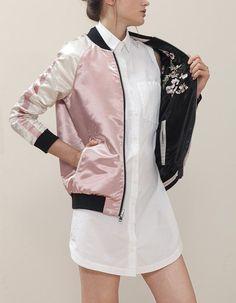Bomber chaqueta mujer stradivarius
